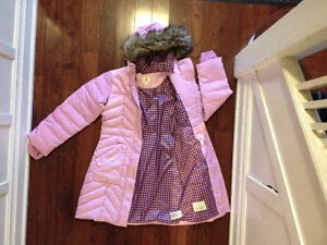 Excellent Like New Quality Land s End Girl s Down Parka Jacket