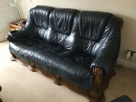 3 Seater + 2 Seater Sofas + coffee Table + pouffee/footstool.