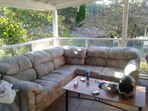 Sectional couch free getting rid of for extra space