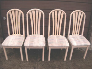 4 Nice Solid Wood Chairs in very good clean condition
