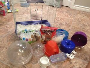 Hamster cage and all