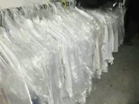 Bargain clearance closing stock 100 Ex-hire Designer Wedding Office Men White Shirts