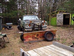 1978 Dodge power wagon with plow