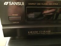 Sansui Karaoke CD player load up to 25 track cd microphone input