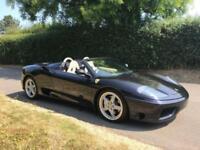 2003 03 FERRARI 360 3.6 SPIDER 2D 400 BHP MANUAL CAR