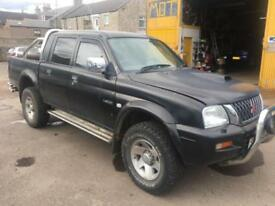 2002 02 Mitsubishi L200 2.5 TD 4Life Double Cab 4 Life **SPARES OR REPAIR ONLY**