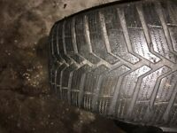 Winter tyres with alloy wheels.
