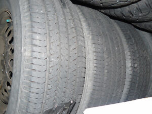 Set of tires on steel rims West Island Greater Montréal image 2