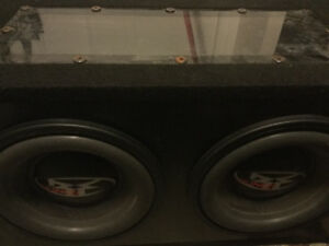 "Subwoofers - 2 x 10"" Rockford Fosgate Punch - Enclosed Box"