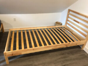 IKEA Twin Bedframe, Solid wood, great condition