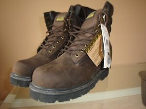 "8"" Safety Work Boots - Size 7"