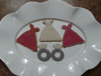 The French Bretzel --- Wedding and Engagement Sugar Cookie Favor