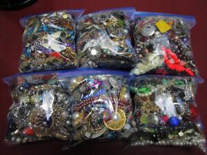 Used Jewelry in Bags to Wear, Repair, Repurpose, Crafts, etc.