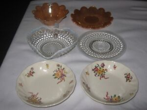 VINTAGE LOT OF 6 MISC.TABLEWARE DISHES