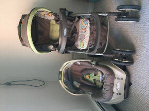 STROLLER AND CAR SEAT SET (GRACO BRAND)