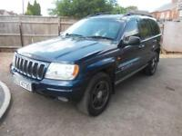 2001 - Jeep Grand Cherokee 4.0 auto Limited- Long MOT, Great Tow Truck