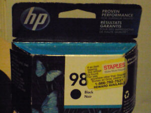 hp 98 color black ink cartridge for printer brand new in box