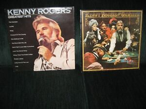 2 kenny rogers vinyl albums still in covers