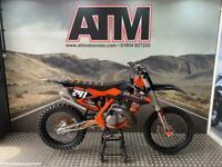 KTM SX250 2018 MOTOCROSS BIKE, HGS PIPE, GRIPPER SEAT,ORANGE FRAME (ATMOTOCROSS)