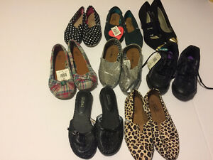 Women's Size 5 shoe lot - 8 pairs total for $15