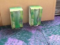 2x 2006 McDonald's Coca Cola glasses green