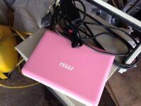 Msi pink Windows notebook/lap