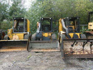 Three JCB Skidsteers