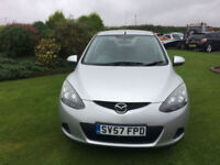 2007 57 Mazda Mazda2 1.3 TS2 Petrol Silver 5 Door MOT 03/2018, NEW MOT WITH CAR.