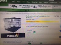 Medium 2 door dog cage