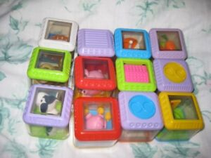 blocks with see thru toys inside