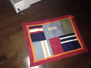 Beautiful quilt boys room - queen with two pillow cases London Ontario image 2
