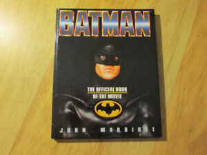 BATMAN Keaton 1989 Vintage Hardcover Official Book of the Movie