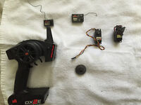 Bunch of rc parts servo receiver&more nitro and electric