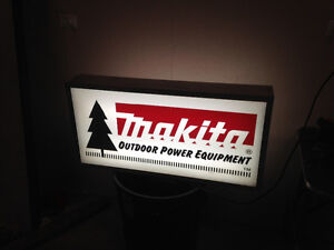Makita Double sided lighted sign