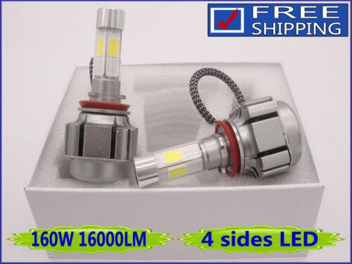 2x 160W 16000LM CREE LED Conversion Car Bulb Light 6000K White H1 H4 H7 H11 9005