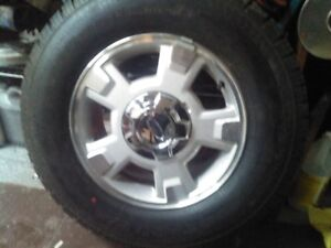 4 New LT245 75 17 in tires on ford F150/Expidition rims