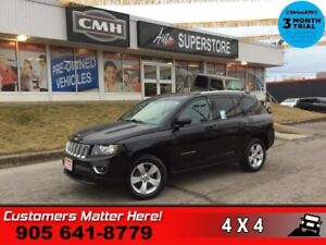 2017 Jeep Compass Sport  4X4 LEATH ROOF PWR-SEAT HS BT HOME-REMO