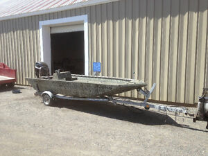 2011 16 ft. Alumacraft boat, welded hull reduced  $15,900