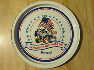 America on Parade USA Centennial DISNEY 1776 1976 Tin Litho Tray