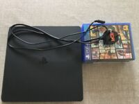 Ps4 Slim 4 Games,Controller,Power cord
