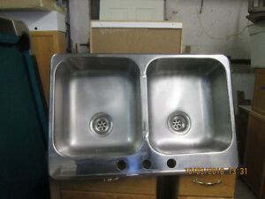 double stainless steel sink Stratford Kitchener Area image 1
