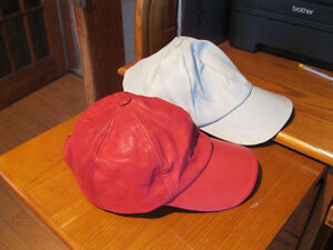BRAND NEW LEATHER BASEBALL CAP FOR WOMEN