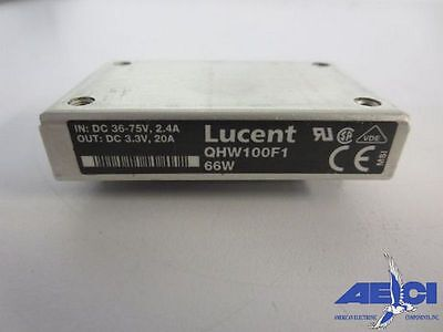 Lucent Qhw100f1 Isolated Module Dc-dc Converter 66w Indc 36-75v 2.4a Outdc3.3v