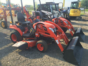 "Kioti CS2510 Compact Tractor with Loader & 60"" Mid Mount Mower"