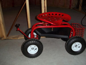 Steerable Rolling Seat with Tool TrayBrand New - Never used