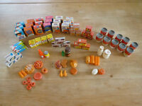 Vintage Doll House Size Miniature Food Containers 1970