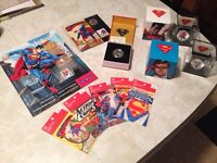 Superman stamp and coin collection