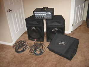 Peavey Power Mixer & Monitor- Reduce to sell Need the space !