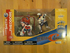 Jason Smith  & Jose Theodore - Heritage Classic Figure 2 pack London Ontario image 1