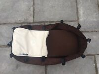Bugaboo chameleon cream and brown with maxi cosi pebble car seat and clips